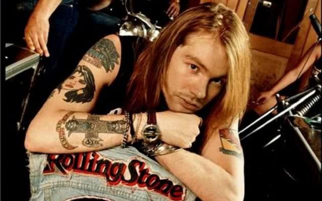 Tatuajes con historia musical Axl