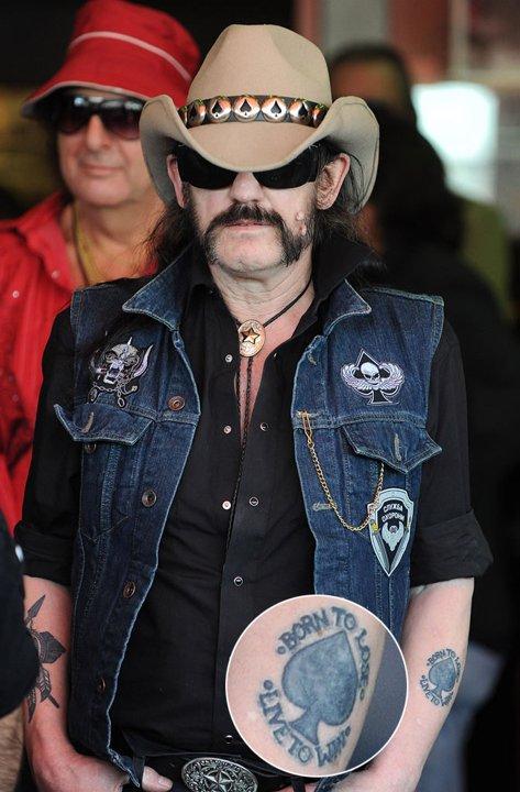 Tatuajes con historia musical Lemmy